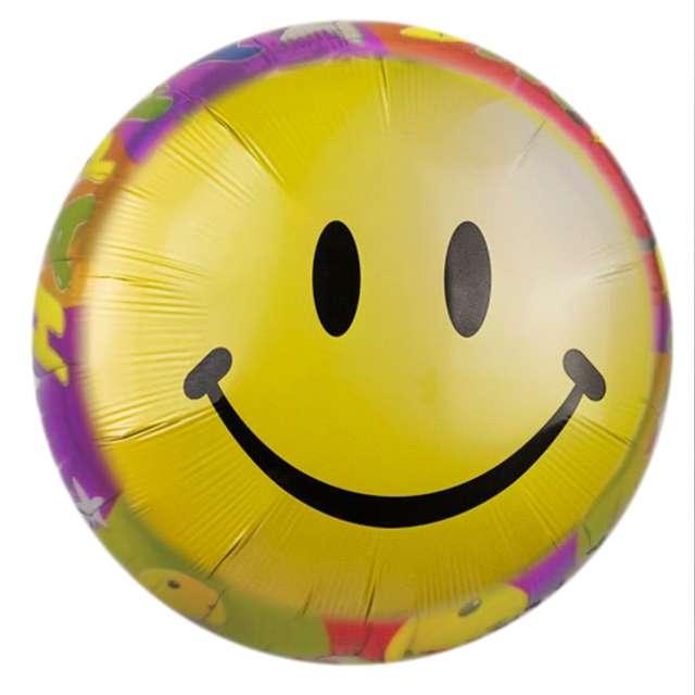 "Balon foliowy ""Smile Happy Birthday"", 7&7, 18"" RND"