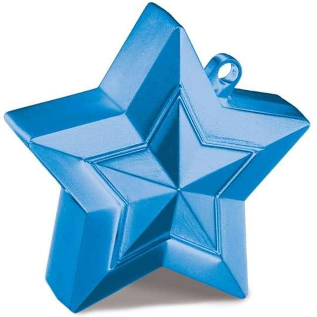 """Obciążnik do balonów """"Gwiazda"""", niebieski, 150 g"""
