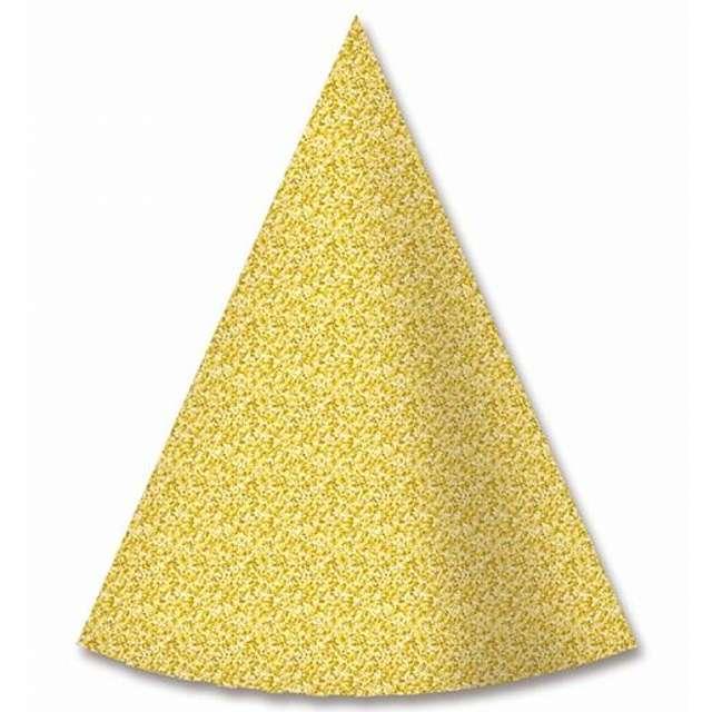 """Czapeczki papierowe """"Tradycyjne"""", złote, 6 szt"""