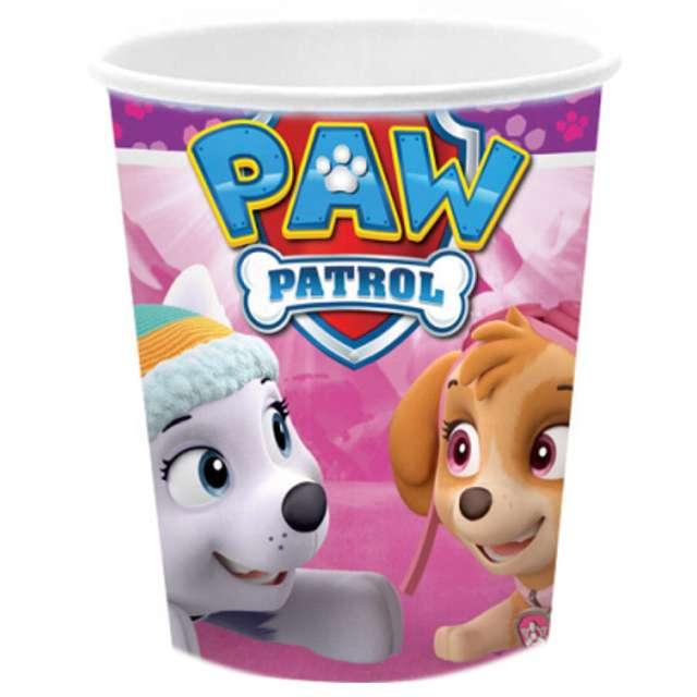 """Kubeczki papierowe """"Paw Patrol Pink"""", 266 ml, 8 szt"""
