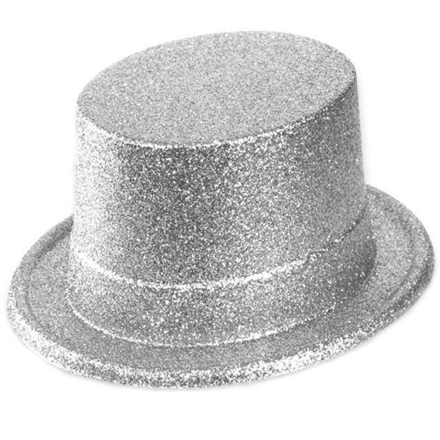 Cylinder Brokat Classic srebrny