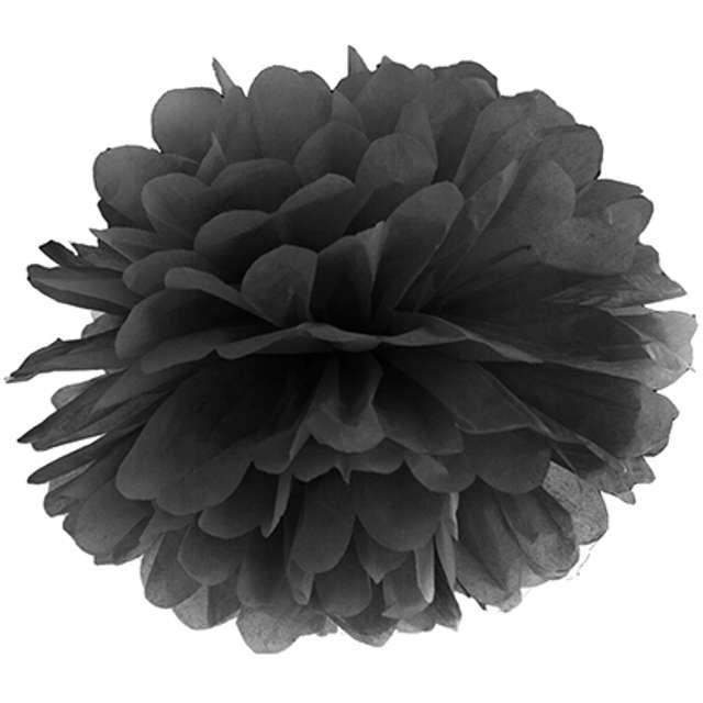 """Pompon bibułowy """"Classic"""", czarny, 25 cm"""