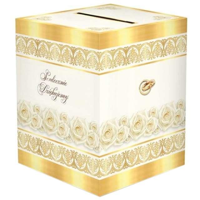 """Pudełko na telegramy """"Serdecznie Dziękujemy Gold"""""""