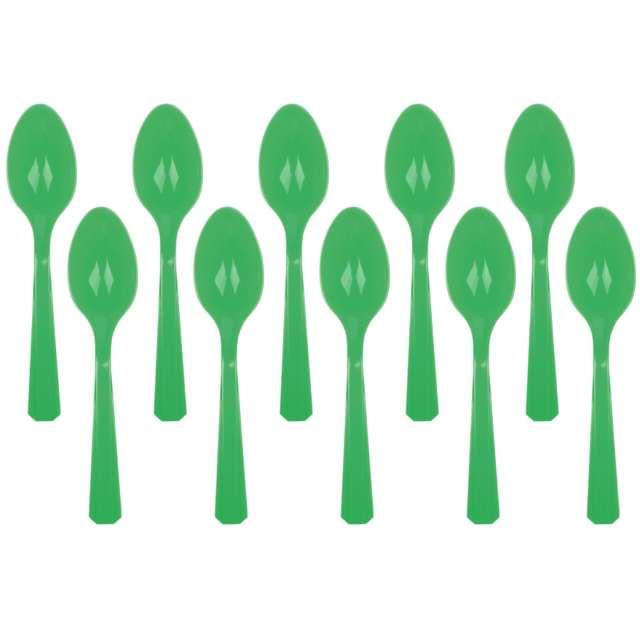 """Łyżki plastikowe """"Amscan"""", zielone, 15 cm, 10 szt"""