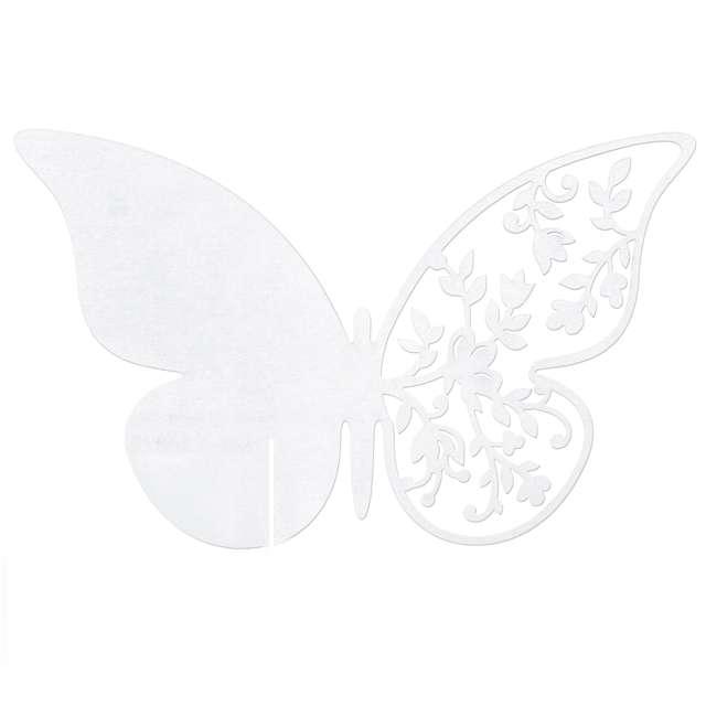 """Wizytówka na kieliszek """"Motyl"""", 10 szt"""