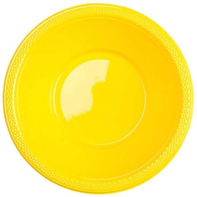 """Miska plastikowa """"Diamond"""", żółta, 355 ml, 10 szt"""