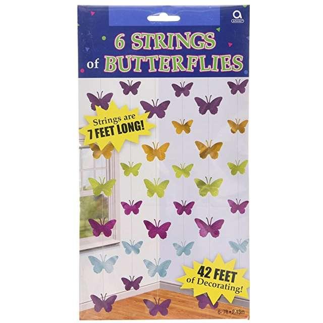 """Dekoracja wisząca, """"Motylki"""", 6x2m, 1op"""