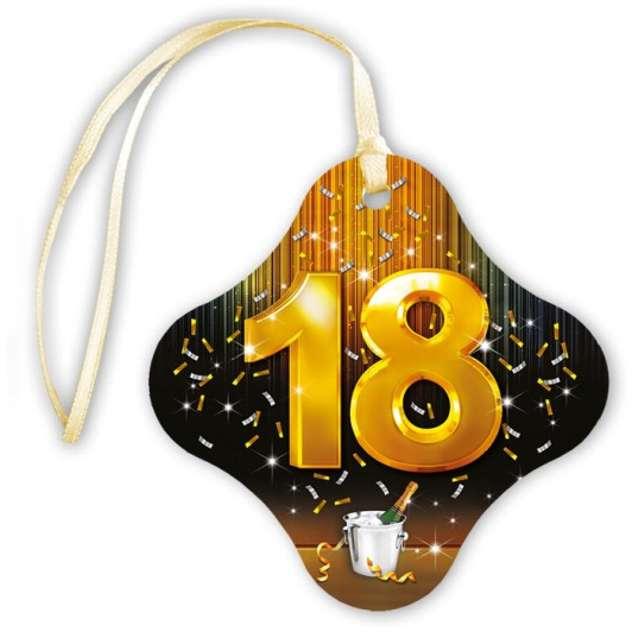 """Zawieszki na alkohol """"18 urodziny szampan"""", 20 szt"""