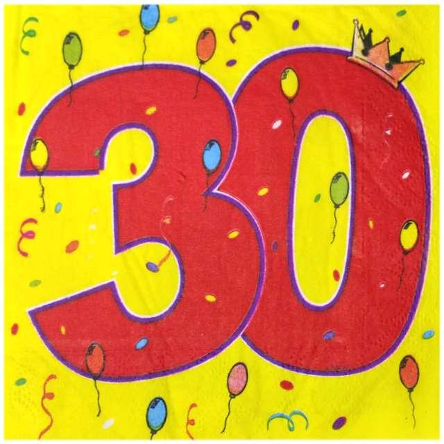 """Serwetki """"30 Urodziny"""", 33 cm, Folat, 16 szt"""