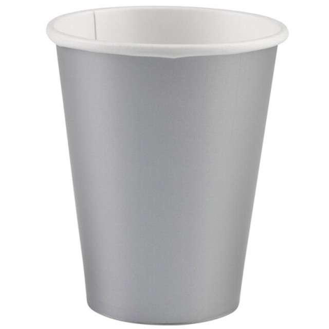 "Kubeczki papierowe ""Premium"", AMSCAN, srebrne, 266 ml, 8 szt"