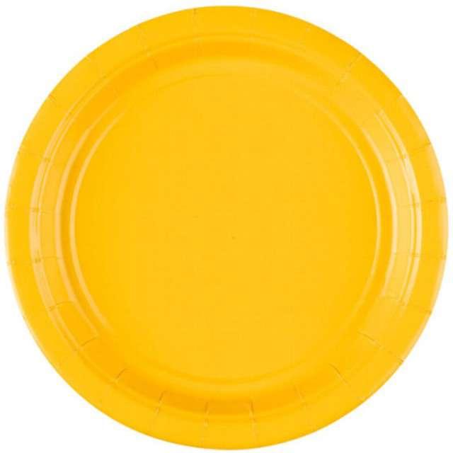 """Talerzyki papierowe """"Premium AMSCAN S"""", żółte, 17,7 cm, 8 szt"""