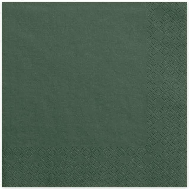 "Serwetki ""Lunch Classic"", zielone butelkowe, 33 cm, 20 szt"