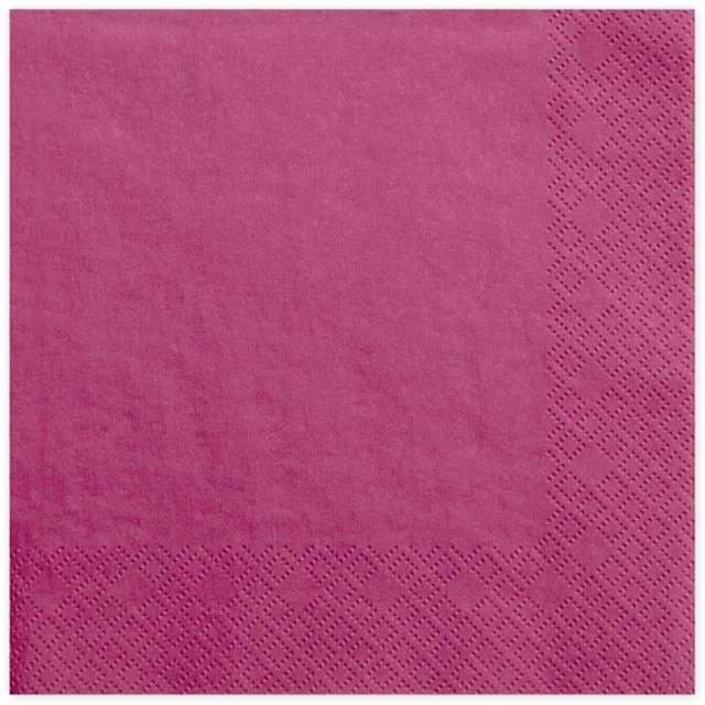 """Serwetki """"Lunch Classic"""", różowe ciemne, 33 cm, 20 szt"""