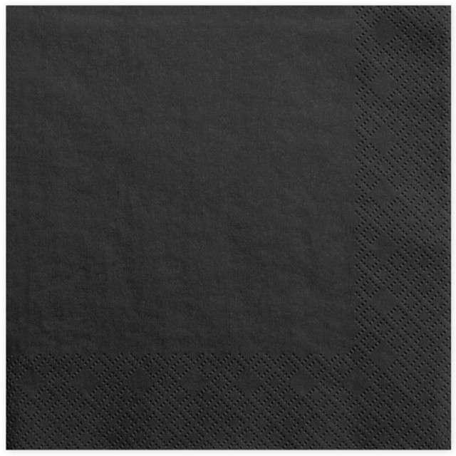 """Serwetki """"Lunch Classic"""", czarne, 33 cm, 20 szt"""