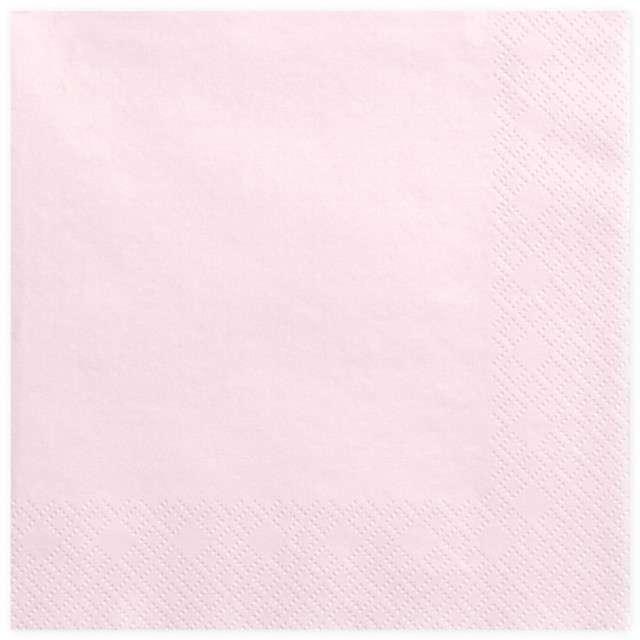 """Serwetki """"Lunch Classic"""", różowe jasne pudrowe, 33 cm, 20 szt"""