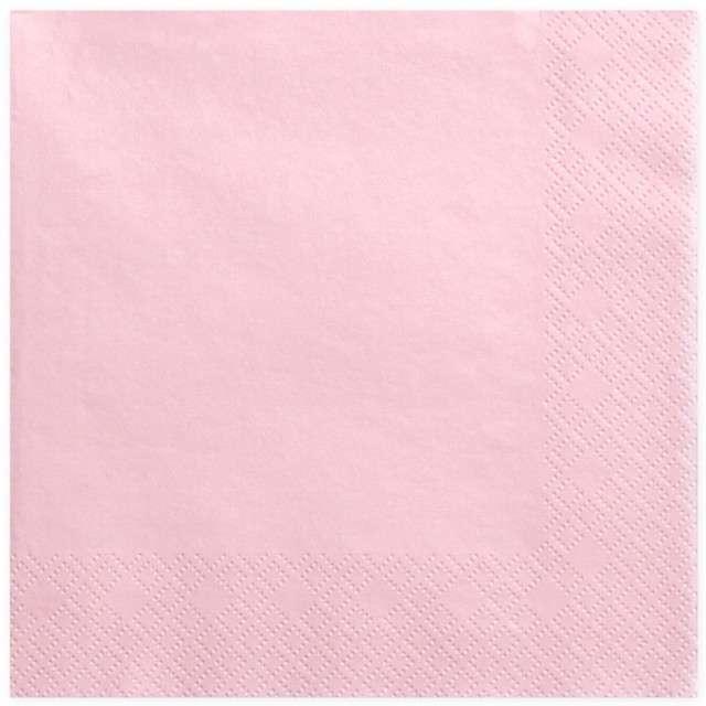 """Serwetki """"Lunch Classic"""", różowe jasne, 33 cm, 20 szt"""