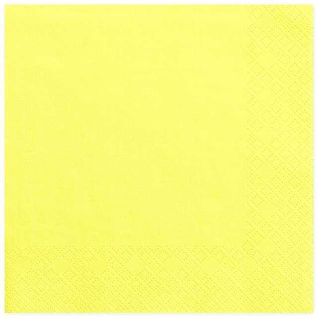 """Serwetki """"Lunch Classic"""", żółte, 33 cm, 20 szt"""