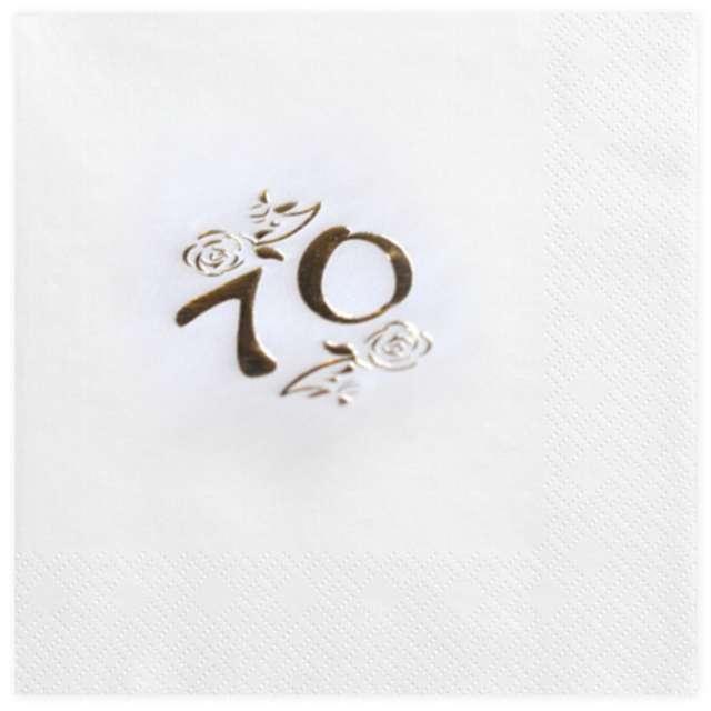 """Serwetki """"70"""", White Gold, GAJO, 20 szt"""