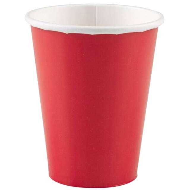 """Kubeczki papierowe """"Premium"""", AMSCAN, czerwone, 266 ml, 8 szt"""