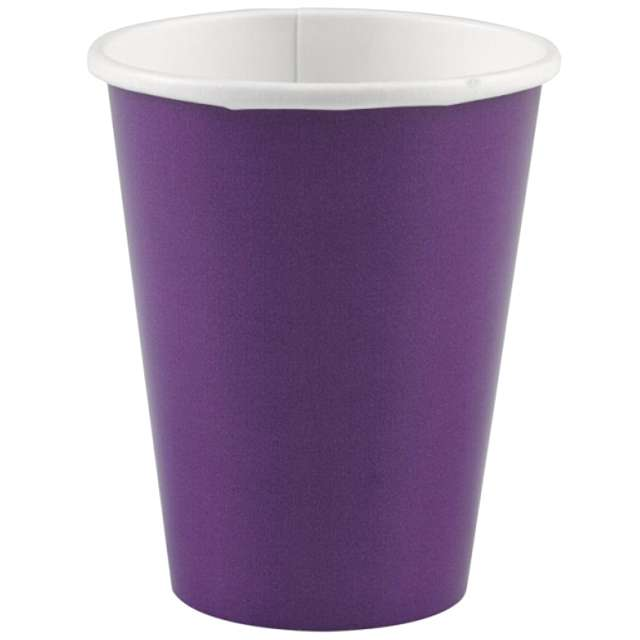 "Kubeczki papierowe ""Premium"", AMSCAN, fioletowe, 266 ml, 8 szt"