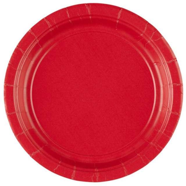 """Talerzyki papierowe """"Premium AMSCAN S"""", czerwone, 17,7 cm, 8 szt"""
