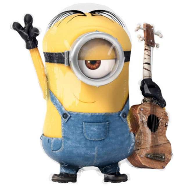 """Balon foliowy """"Minions Stuart z Gitarą"""", AMSCAN, 28"""" SHP"""