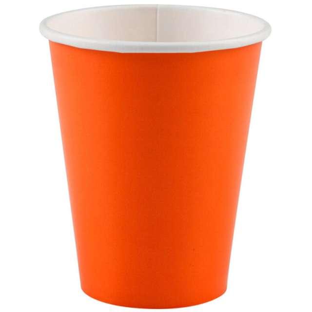 """Kubeczki papierowe """"Premium"""", AMSCAN, pomarańczowe, 266 ml, 8 szt"""