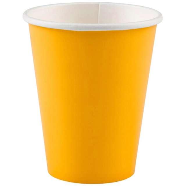 """Kubeczki papierowe """"Premium"""", AMSCAN, żółty słoneczny, 266 ml, 8 szt"""