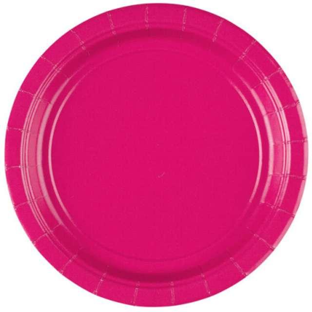"""Talerzyki papierowe """"Premium AMSCAN S"""", różowe, 17,7 cm, 8 szt"""