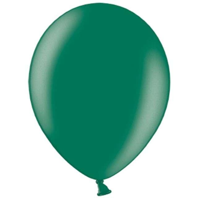 "Balony ""Metallic"", zielony butelkowy, 10"" STRONG,  10 szt"