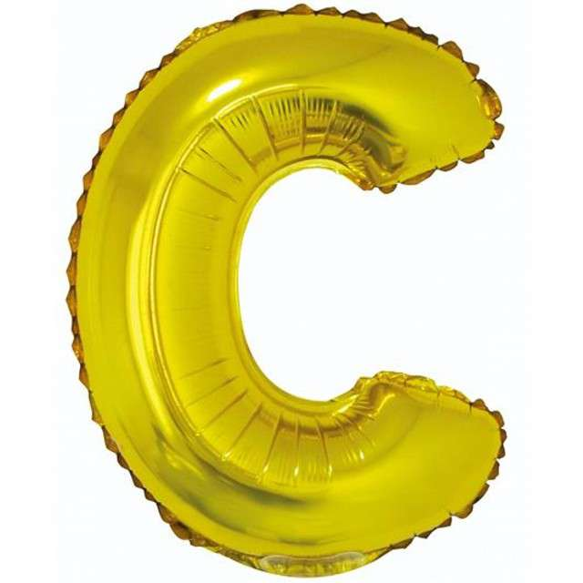 """Balon foliowy litera C, 14"""", GODAN, złoty"""