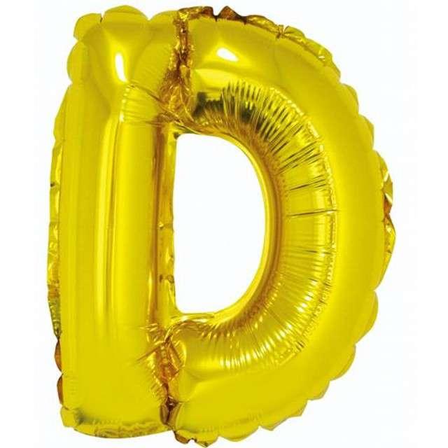 """Balon foliowy litera D, 14"""", GODAN, złoty"""
