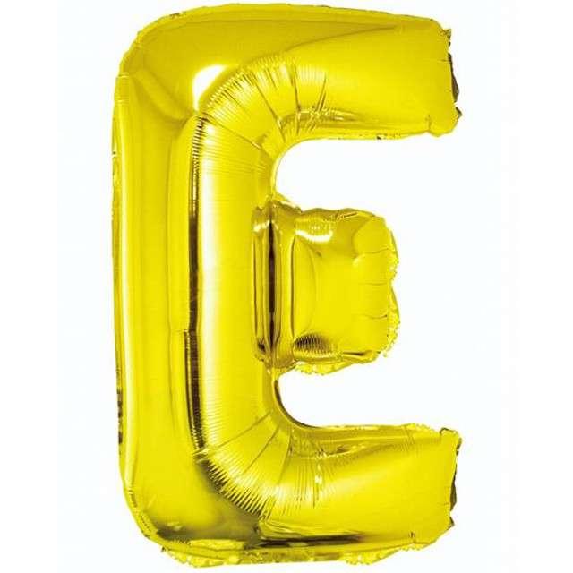 """Balon foliowy litera E, 14"""", GODAN, złoty"""