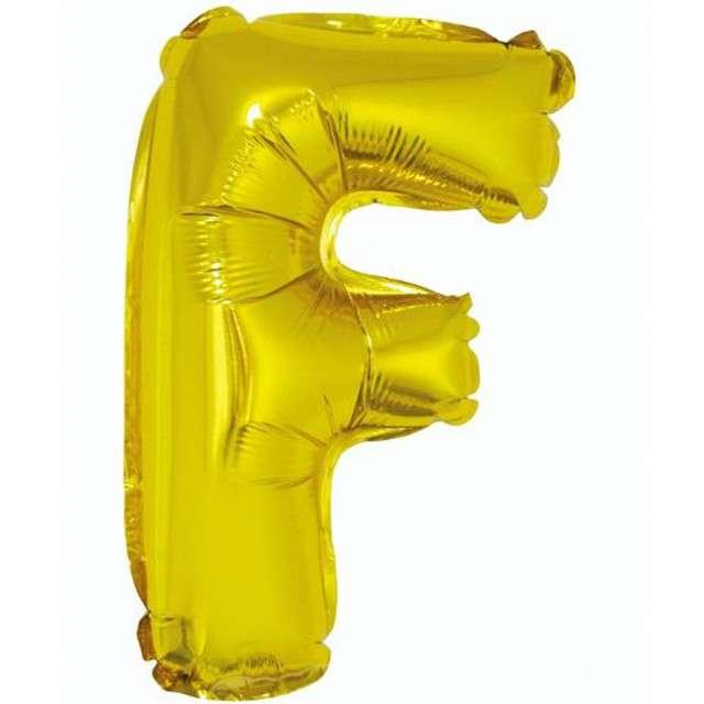 """Balon foliowy litera F, 14"""", GODAN, złoty"""