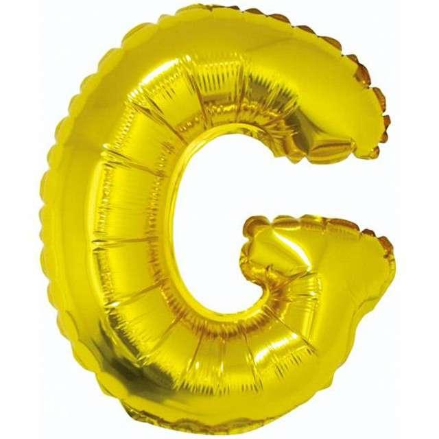 """Balon foliowy litera G, 14"""", GODAN, złoty"""