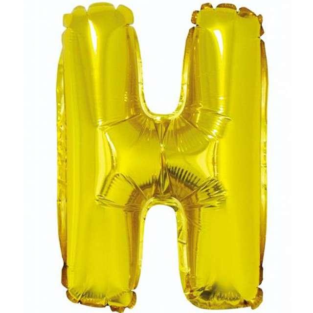 """Balon foliowy litera H, 14"""", GODAN, złoty"""