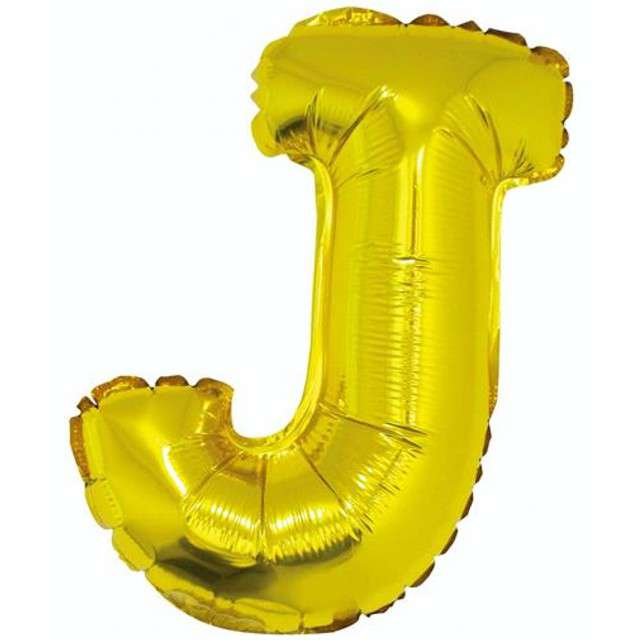 """Balon foliowy litera J, 14"""", GODAN, złoty"""