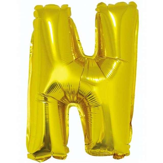 """Balon foliowy litera N, 14"""", GODAN, złoty"""