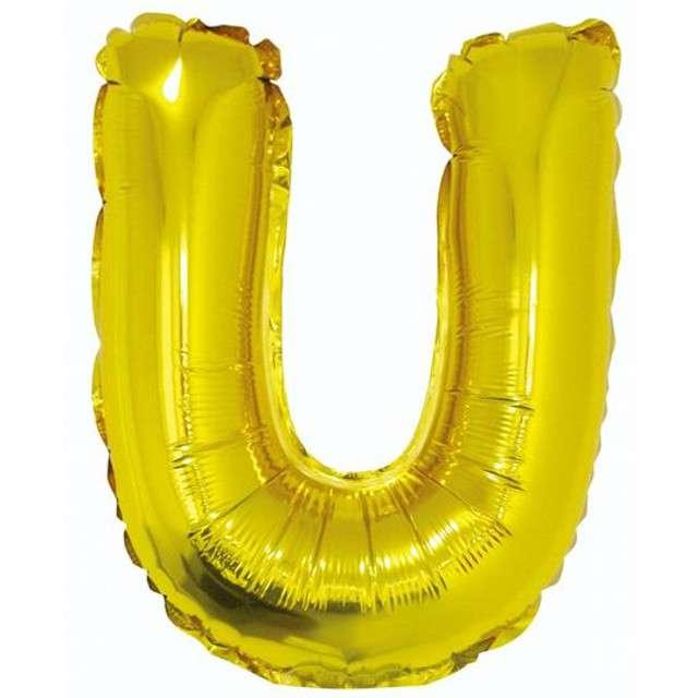 """Balon foliowy litera U, 14"""", GODAN, złoty"""