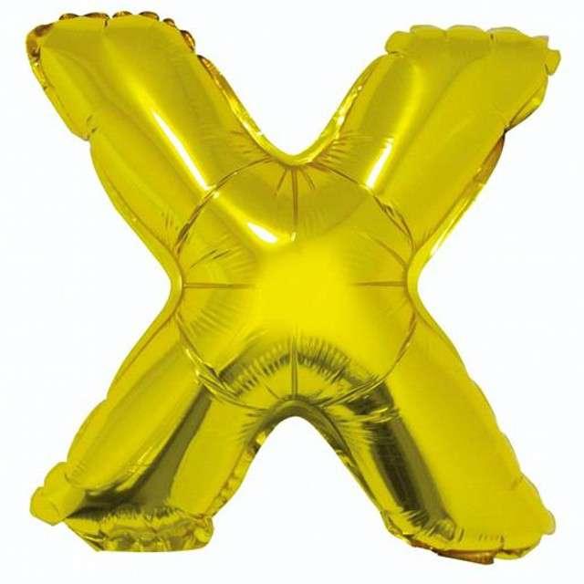 """Balon foliowy litera X, 14"""", GODAN, złoty"""