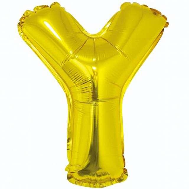 """Balon foliowy litera Y, 14"""", GODAN, złoty"""