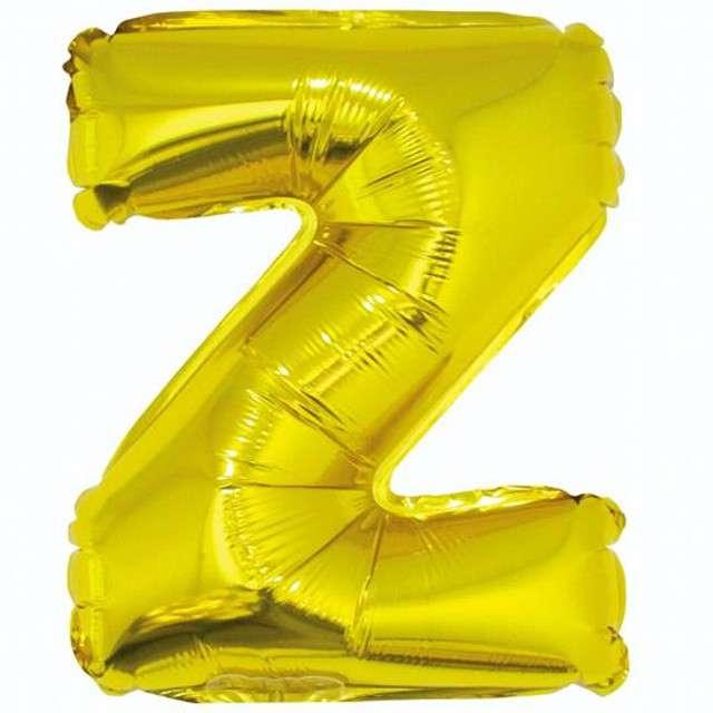 """Balon foliowy litera Z, 14"""", GODAN, złoty"""