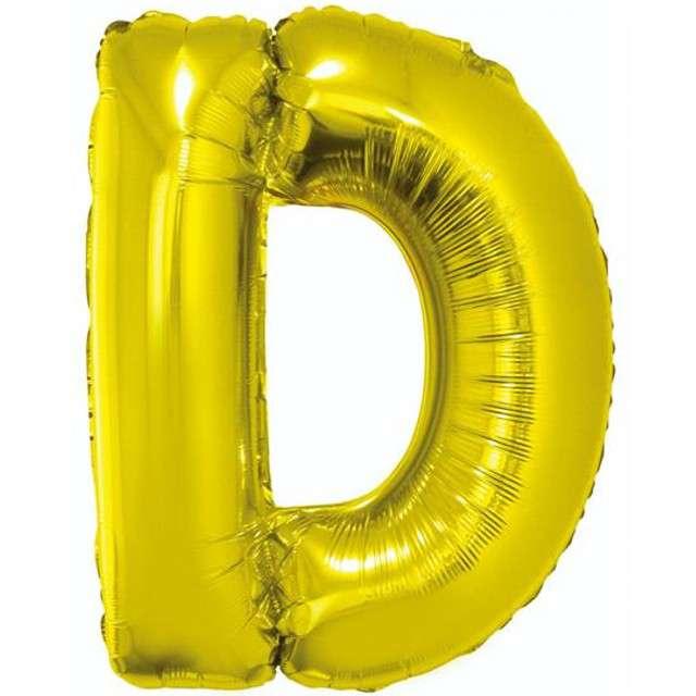 """Balon foliowy litera D, 32"""", GODAN, złoty"""