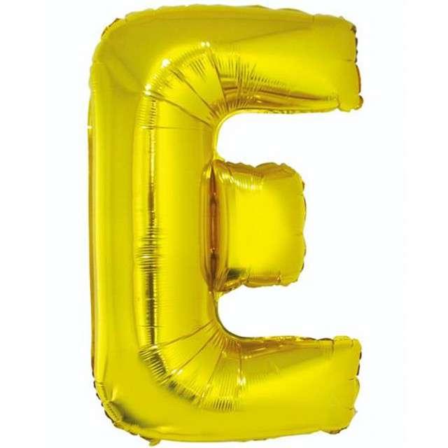 """Balon foliowy litera E, 32"""", GODAN, złoty"""