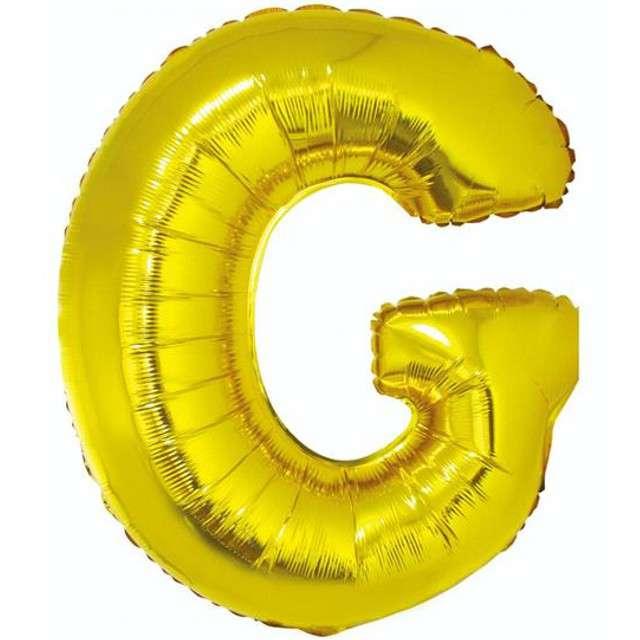 """Balon foliowy litera G, 32"""", GODAN, złoty"""