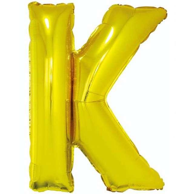 """Balon foliowy litera K, 32"""", GODAN, złoty"""