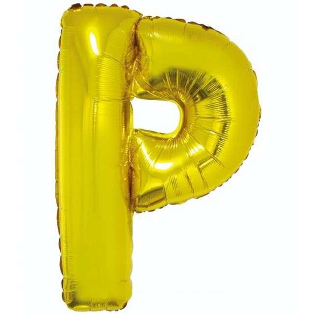 """Balon foliowy litera P, 32"""", GODAN, złoty"""