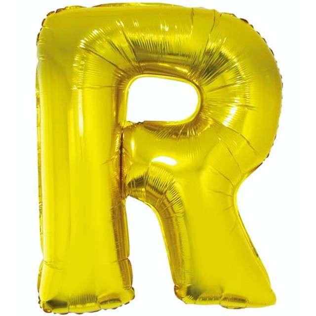 """Balon foliowy litera R, 32"""", GODAN, złoty"""