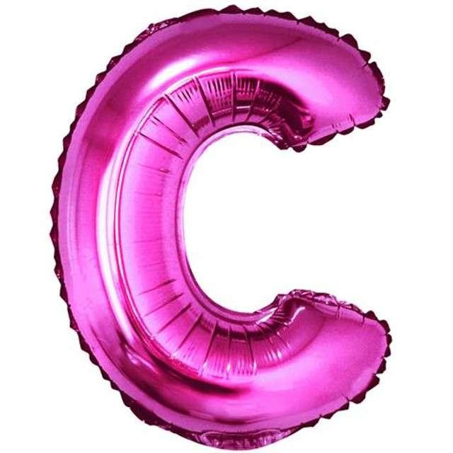 """Balon foliowy litera C, 14"""", GODAN, różowy"""