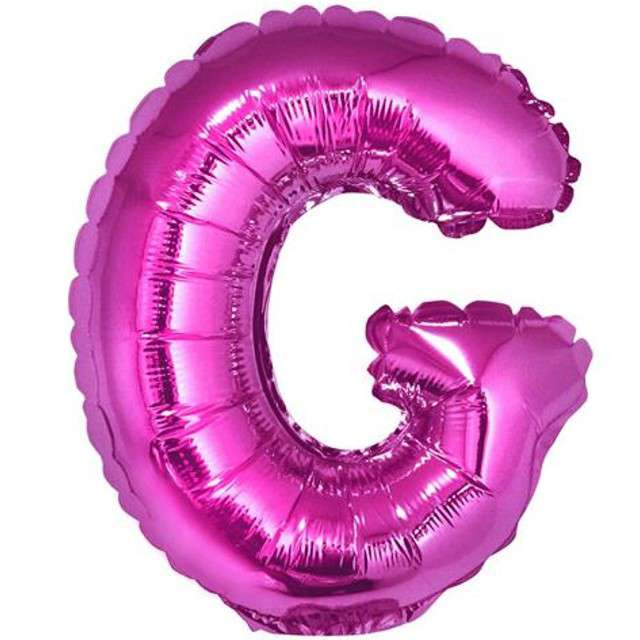 """Balon foliowy litera G, 14"""", GODAN, różowy"""